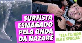 Surfista ESMAGADO pela Onda da Nazaré