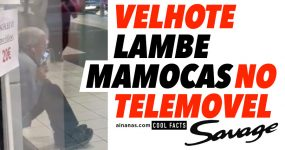 Velhote LAMBE MAMOCAS no Telemóvel
