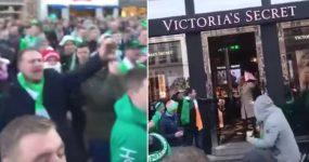 Fãs Irlandeses na Dinamarca Fazem Festa à porta da Victoria's Secret