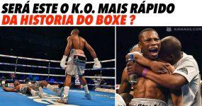 Será o KO mais rápido da história do Boxe?