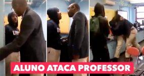 Aluno do Secundário ATACA PROFESSOR