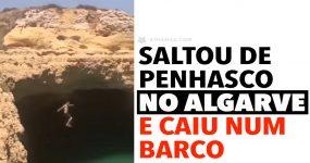 Maluco Salta de Penhasco EM PORTUGAL e Cai Num Barco Turístico!