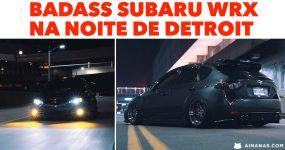 Badass SUBARU WRX na Noite de Detroit