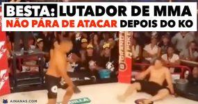 BESTA: lutador de MMA não pára de atacar depois do KO