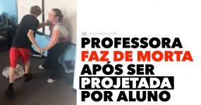 Professora FAZ DE MORTA após ser projetada por aluno