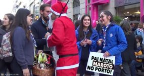 PAI NATAL MAROTO andou a distribuir amor pelo Porto