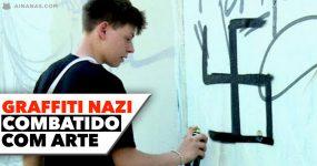 GRAFFITI NAZI combatido com arte e criatividade