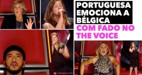 PORTUGUESA emociona a Bélgica com FADO no The Voice
