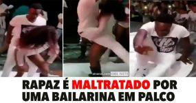 Rapaz é MALTRATADO por uma Bailarina em Palco