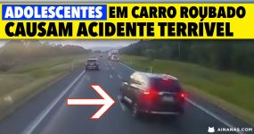 Adolescentes em CARRO ROUBADO causam acidente terrível