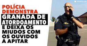 Polícia lança GRANADA DE ATORDOAMENTO e deixa miúdos com os ouvidos a apitar