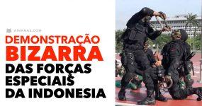 Demonstração BIZARRA das Forças Especiais da Indonésia