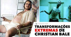 De obeso a esquelético. As transformações EXTREMAS de Christian Bale