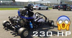 Loucos Meteram Motor de Honda CBR 1000RR Fireblade num Kart