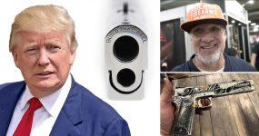 JESSE JAMES faz pistola personalizada para o seu amigo DONALD TRUMP