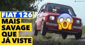 FIAT 126 do aço faz rally mesmo à maluco!