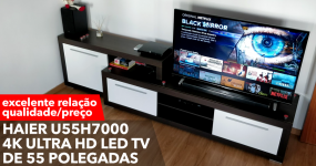 Haier U55H7000 4K Ultra HD LED TV de 55 polegadas