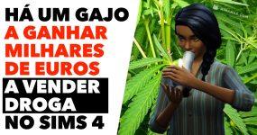 Este gajo GANHA MILHARES DE EUROS a vender droga no SIMS 4
