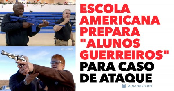 """Escola Americana Treina """"Alunos Guerreiros"""" para caso de ataque"""