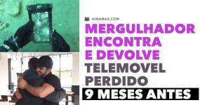 Mergulhador encontra telemóvel perdido 9 MESES ANTES e consegue devolvê-lo!