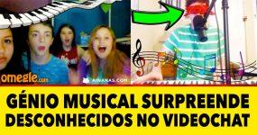 GÉNIO musical surpreende estranhos num Chat Online