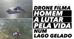 Drone filma homem a LUTAR PELA VIDA