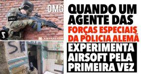 Agente das Forças Especiais da Polícia Alemã experimenta Airsoft pela Primeira Vez