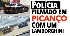 Polícia filmado em PICANÇO COM LAMBORGHINI