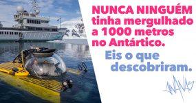 NUNCA NINGUÉM tinha mergulhado a 1000 metros no Antártico. Eis o que descobriram.