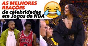 As MELHORES REAÇÕES de Celebridades em Jogos da NBA