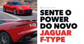 Sente só o poder do novo JAGUAR F-TYPE 2018