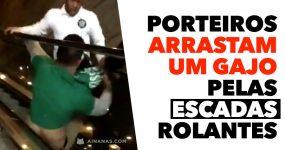 Porteiros ARRASTAM UM GAJO pelas escadas rolantes!