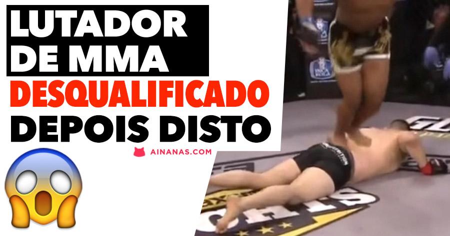 lutador de MMA desqualificado