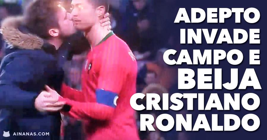 adepto beija cristiano ronaldo