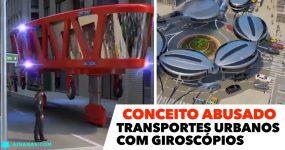 FANTÁSTICO Conceito para veículos urbanos com giroscópios