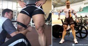 NEVER SKIP LEG DAY: este ciclista tem pernas monstruosas!