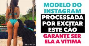 Modelo do Instagram Processada por EXCITAR UM CÃO garante ser ela a vítima