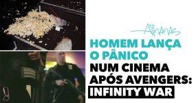 Homem LANÇA O PÂNICO num cinema após Avengers