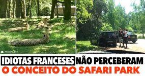 Idiotas Franceses não perceberam o conceito do Safari Park