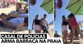 Casal de Polícias abusa na Praia… e a cena correu mal