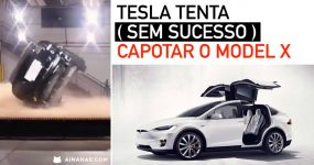 Tesla tenta (sem sucesso) capotar o MODEL X