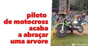 Piloto de Motocross acaba a ABRAÇAR UMA ARVORE