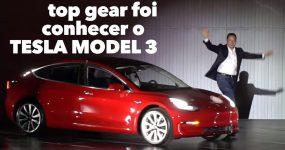 TOP GEAR esteve com o Model 3 da Tesla
