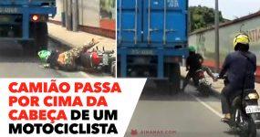 Camião Passa por Cima DA CABEÇA de um Motociclista