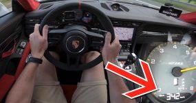 PORSCHE 911 GT2 RS esticado a 342km/h na Autobahn