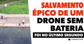 A Bateria do Drone MORREU NO AR e o Piloto teve de ser NADADOR SALVADOR