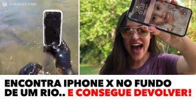 Encontra iPhone X no fundo de um rio.. e consegue devolver!