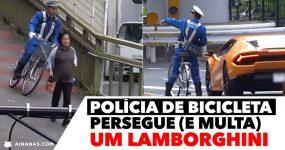 Polícia DE BICICLETA persegue e apanha Lamborghini