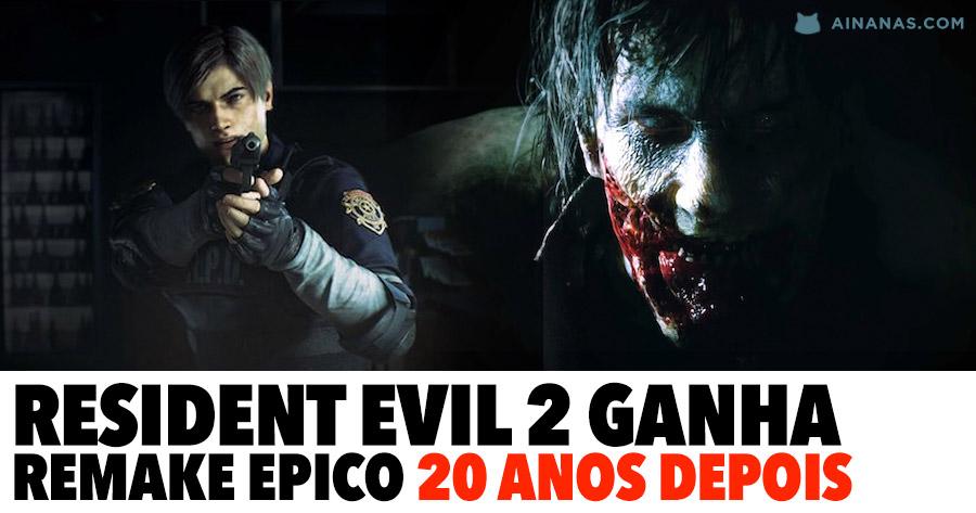 RESIDENT EVIL 2 vai ter remake épico 20 anos depois do original