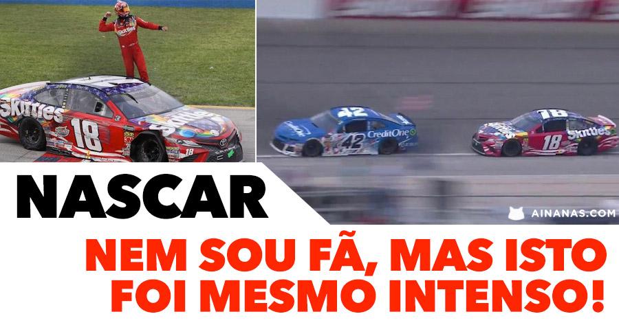 Nunca fui fã de NASCAR, mas isto é intenso!